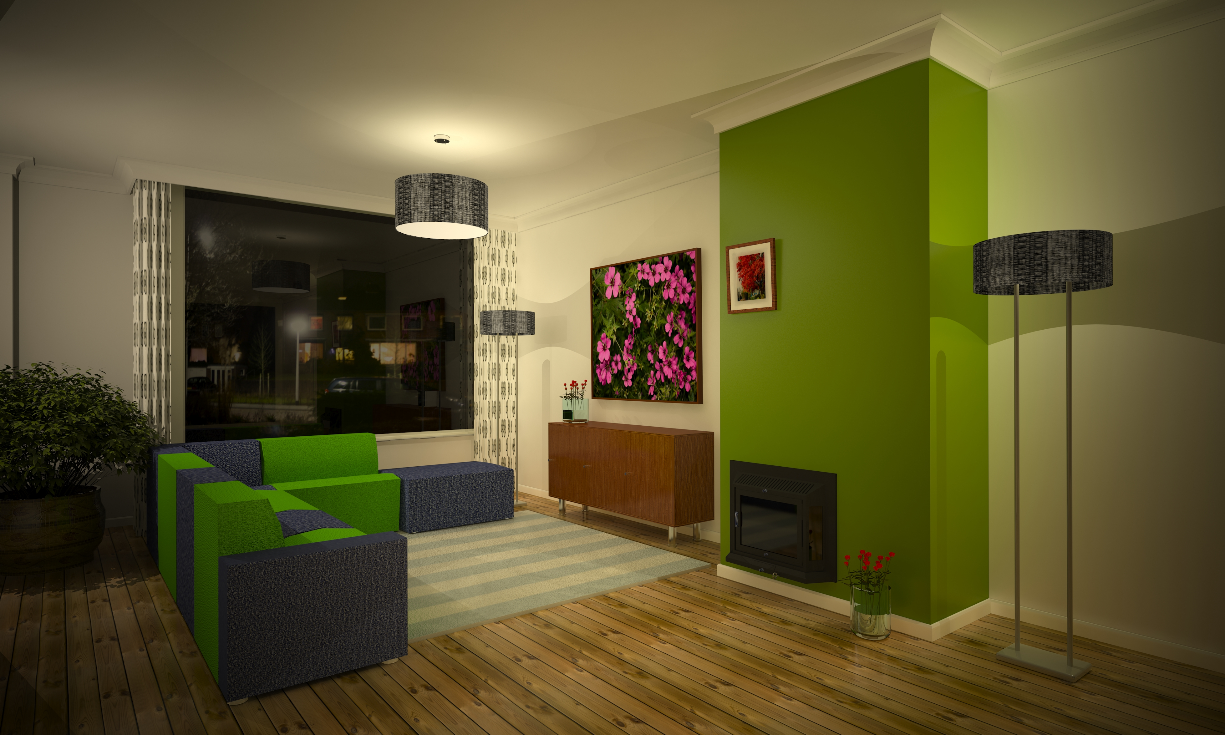 Inrichting woonkamer met paars: huisdecoratie interieur ...